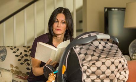 Reading a Book - Cougar Town