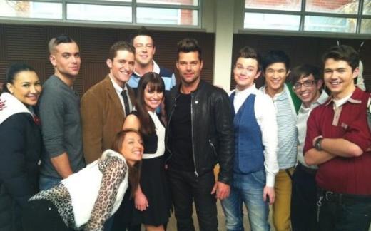 Ricky Martin, Glee Cast