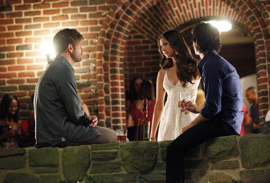 Elena, Alaric and Damon