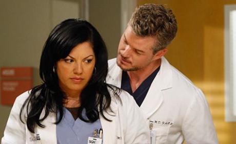 Callie Torres and Mark Sloan