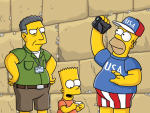 Sacha Baron Cohen on The Simpsons