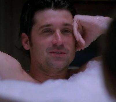 McDreamy in the Tub
