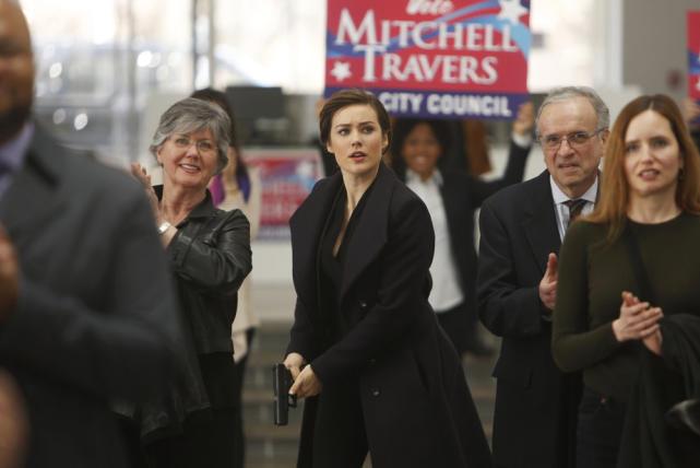 Liz at a Campaign Event