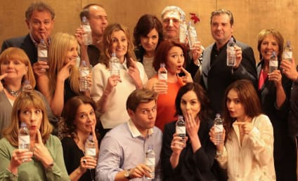 "Downton Abbey Cast Turns ""Water Bottle Gate"" Into Charitable Photo Op"