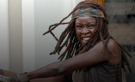 Michonne in Action - The Walking Dead Season 6 Episode 3