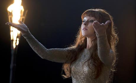 Rowena up to no good - Supernatural Season 11 Episode 9