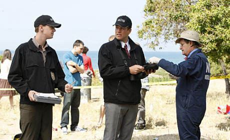NCIS Team at the Crime Scene