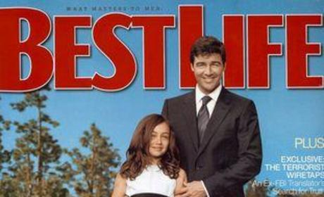 Kyle Chandler, Daughters in Best Life Magazine