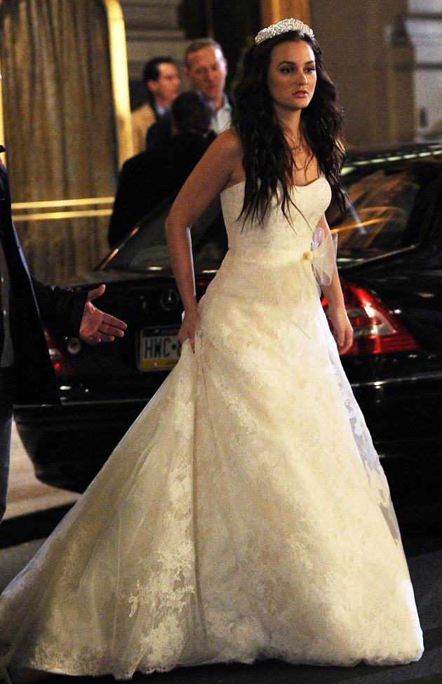 gossip girl set photos blair waldorf 39 s wedding dress