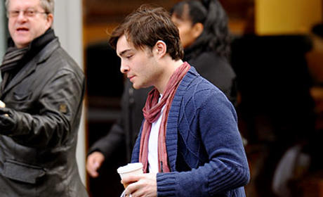 Ed Westwick Shops in New York