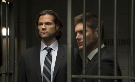 Sam and Dean behind bars - Supernatural Season 11 Episode 6