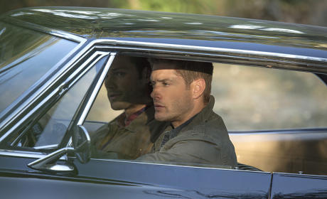 Sam and Dean crusing around town - Supernatural Season 11 Episode 5