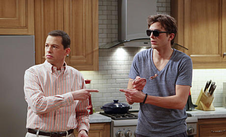 Two and a Half Men Review: Mary Poppins and Sir Schmidt