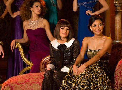 Rachel and Santana Pic