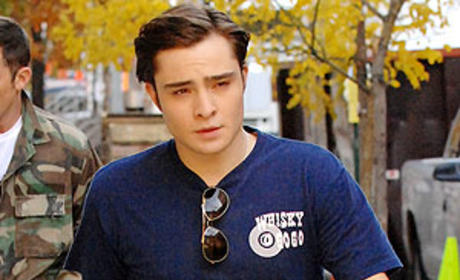 Ed Westwick on the Way to Work