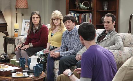 Serious Group Chat  - The Big Bang Theory Season 9 Episode 1