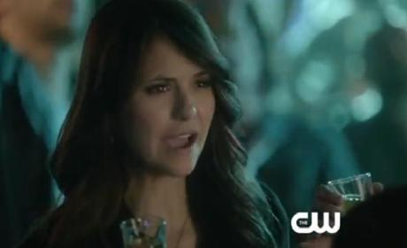 The Vampire Diaries Clip: Bottoms Up!
