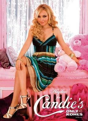 Posing for Candie's