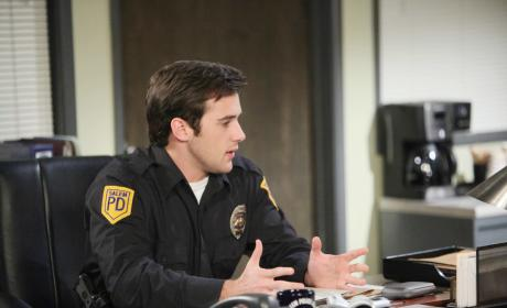 JJ at the Salem PD - Days of Our Lives