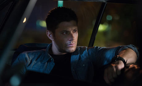 Dean relaxing in the Impala - Supernatural Season 11 Episode 4