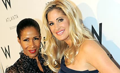 A Photo Op for Sheree Whitfield and Kim Zolciak