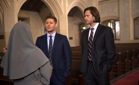 Sam, Dean and a Nun - Supernatural Season 10 Episode 16