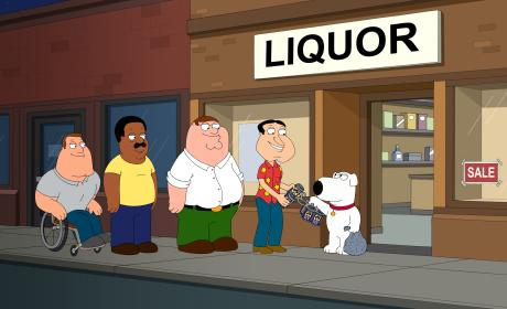 Brian Buys the Beer - Family Guy