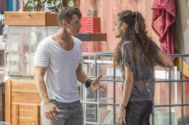 Roman and Teri Speak Heatedly