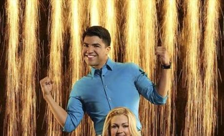 Victor Ortiz and Lindsay Arnold