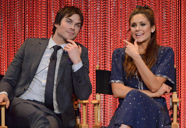 Ian Somerhalder and Nina Dobrev on Stage