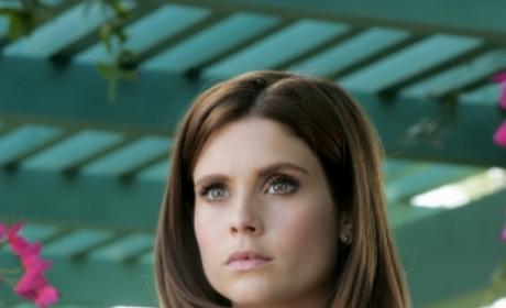 Megan in Cute Blue Top