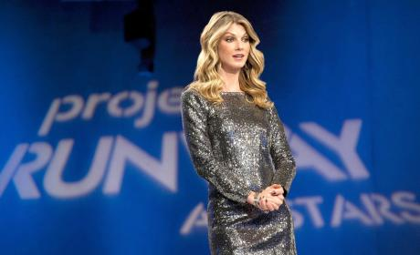 Angela Lindvall on the Project Runway