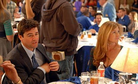 Coach, Mrs. Coach at Dinner