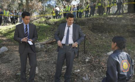 Aubrey and Booth Get Information from Cam - Bones Season 10 Episode 17