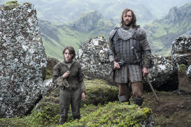Arya with The Hound