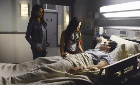 Shana and Aria at Ezra's Bedside