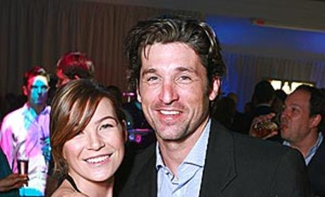 Meredith Grey and Dr. McDreamy Share Embrace at Party