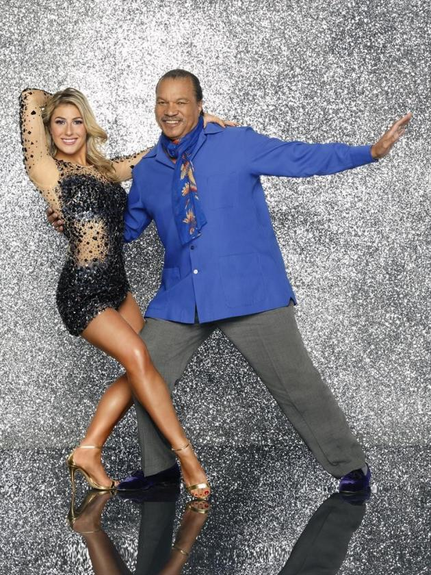 Billy Dee Williams and Emma Slater