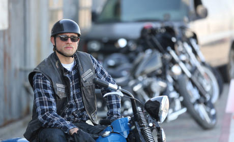 Jax Teller on his Bike - Sons of Anarchy Season 7 Episode 13