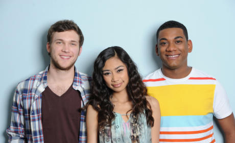 Phillip Phillips, Jessica Sanchez and Joshua Ledet