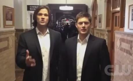 Supernatural Stars Ask for Your Vote... Half-Naked!