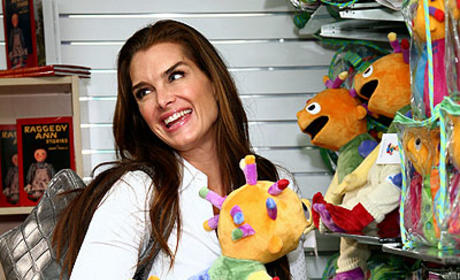 Brooke Shields at FAO Schwartz