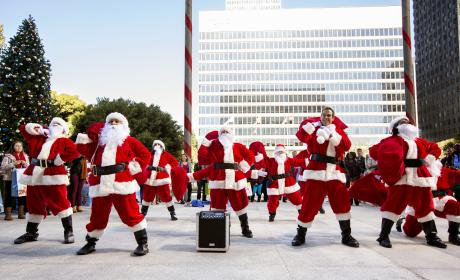 A Santa Flash Mob - Major Crimes