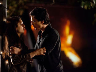 Damon and Elena Photo