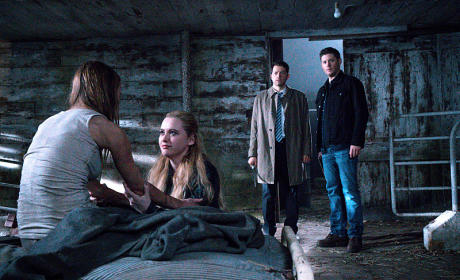 Castiel, Dean, Claire - Supernatural Season 10 Episode 20