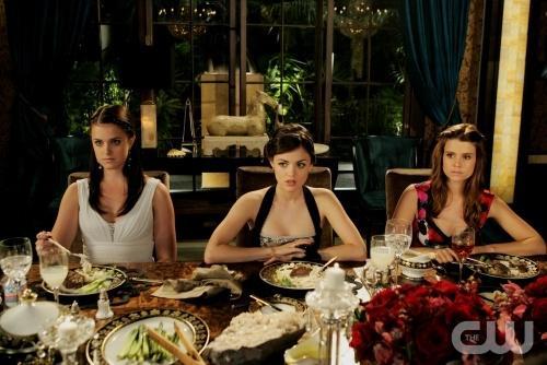 Rose, Sage & Megan at Dinner Party