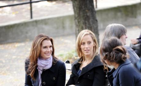 Kim, Lindsay, and Brooke on Set