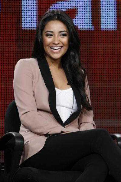 Shay Mitchell at Press Tour