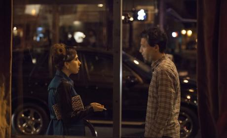 Zosia Mamet and Alex Karpovsky