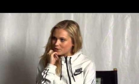 Eliza Taylor Set Interview